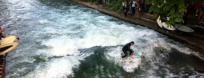 Eisbach Wave is one of All the great places in Munich.