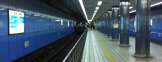 Yotsubashi Station (Y14) is one of 大阪市営地下鉄 四つ橋線.