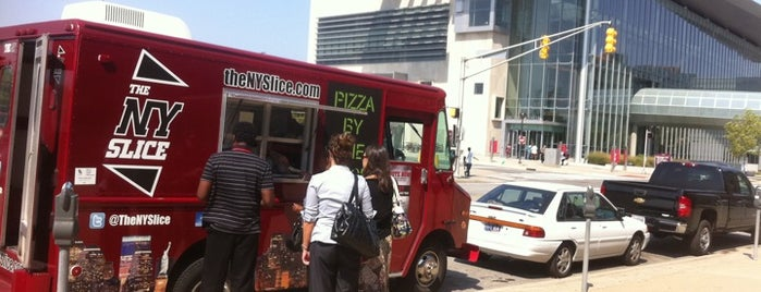 The NY Slice is one of Food trucks! Yay!.