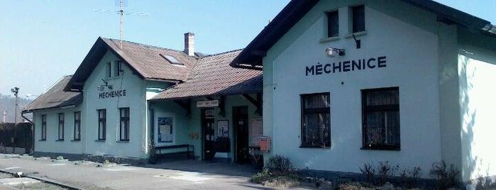 Železniční stanice Měchenice is one of Železniční stanice ČR: M (7/14).