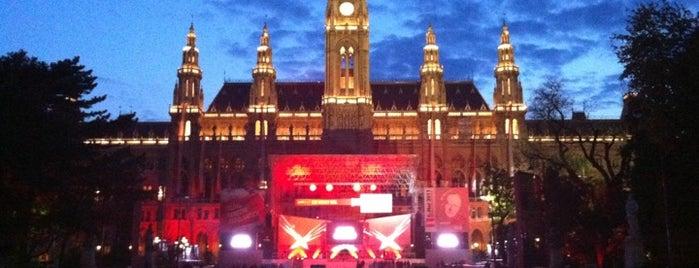 Rathausplatz is one of Vienna, Austria - The heart of Europe - #4sqCities.