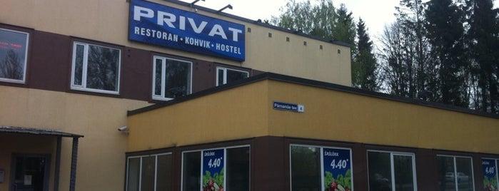 Restoran Privat is one of The Barman's bars in Tallinn.