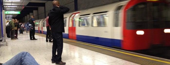 Heathrow Terminal 5 London Underground Station is one of Tube Challenge.