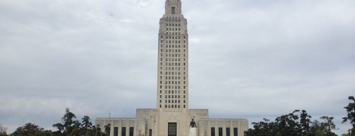 Louisiana State Capitol is one of The Crowe Footsteps.