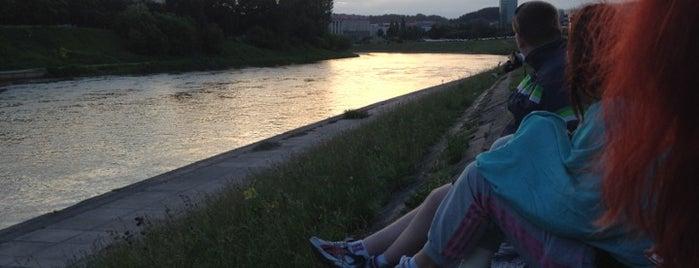 White bridge is one of Vilnius: student edition.