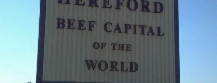 Hereford, Texas is one of places I been.