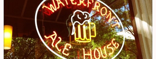 Waterfront Ale House is one of Brokelyn Beer Book Bars, #3 and 4.