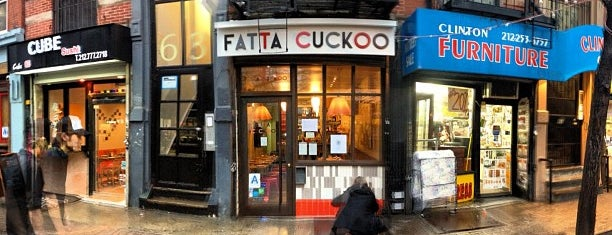 Fatta Cuckoo is one of East village restaurants.