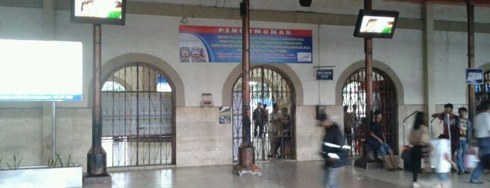 Stasiun Jatinegara is one of Jakarta. Indonesia.