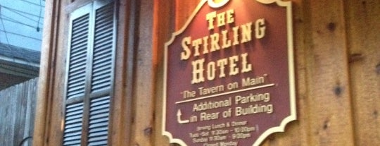 The Stirling Hotel is one of NJ Beer.
