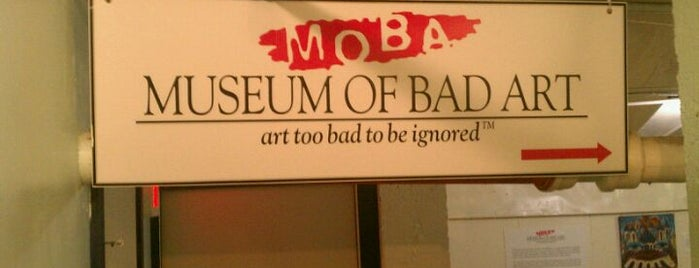 Museum of Bad Art is one of Boston Area Art Museums.