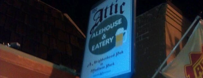 The Attic Alehouse & Eatery is one of 100 great bars - Lonely Planet 2011.