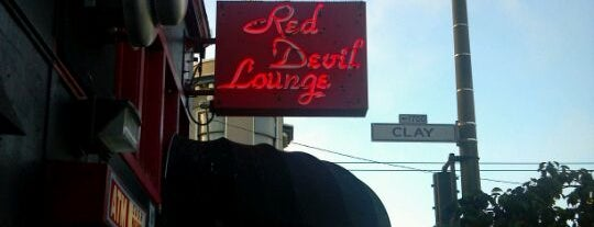 Red Devil Lounge is one of SF Bars.
