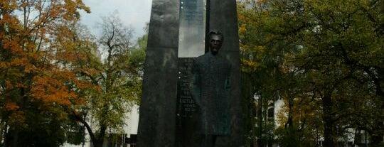 Vincas Kudirka monument is one of Vilnius: student edition.