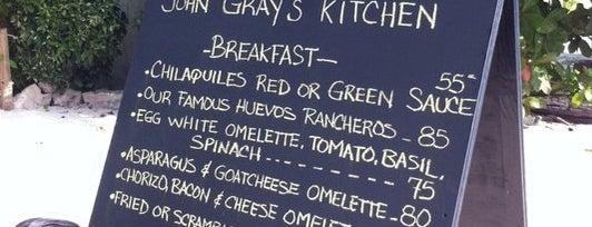 John Gray's Kitchen is one of Puerto Morelos.
