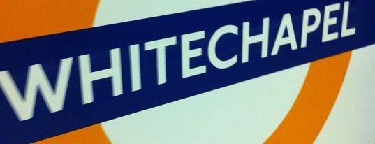 Whitechapel London Underground and London Overground Station is one of #LoveE1.
