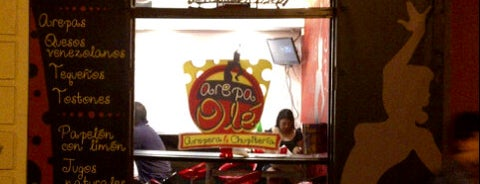 "Arepa Olé ""Chueca"" is one of Madrid."