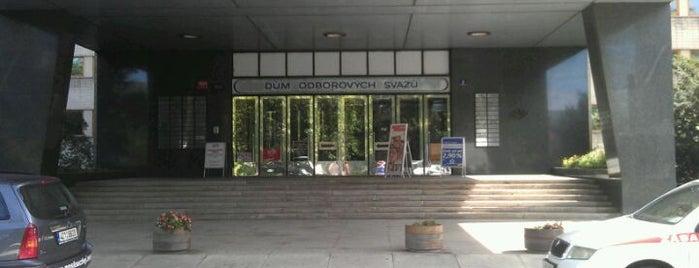 Dům odborových svazů is one of Žižkovský průvodce Restaurace Záležitost.
