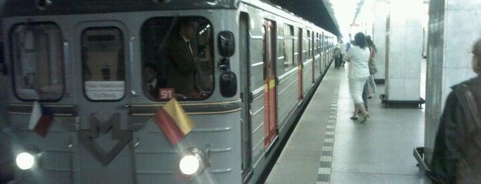 Metro =C= Kačerov is one of Metro C.