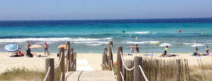 Platja de Son Bou is one of Menorca for kids guide.