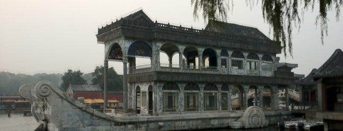 石舫 Marble Boat Pavillion is one of Summer palace..