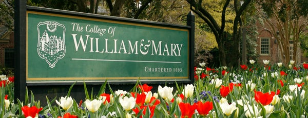 The College of William & Mary is one of College Love - Which will we visit Fall 2012.