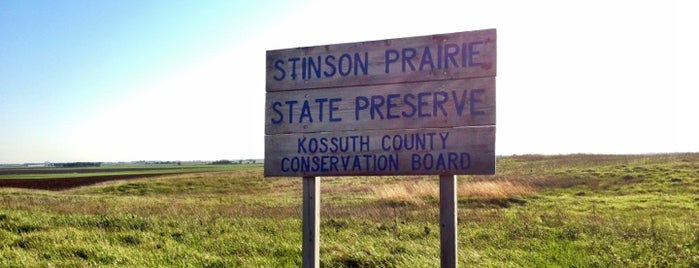 Stinson Prairie State Park is one of Iowa: State and National Parks.