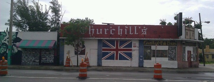Churchill's Pub is one of Miami New Times 2013.