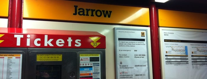 Jarrow Metro Station is one of Railway stations visited.