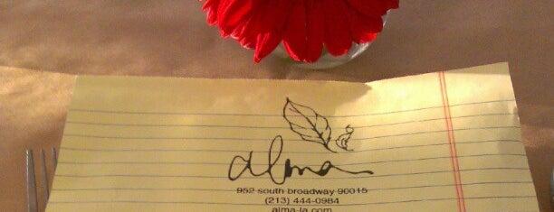 Alma is one of Restaurants.