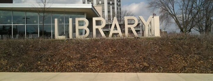 Champaign Public Library is one of Frequent Places.