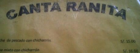 Canta Ranita is one of Restaurantes Imperdibles.