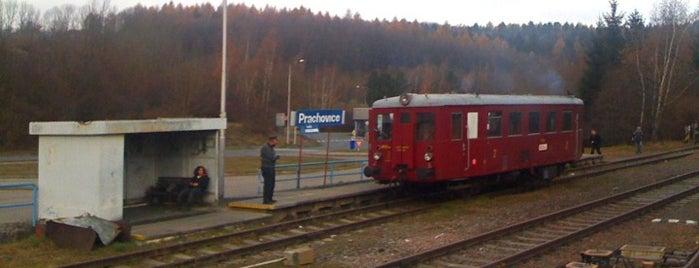 Železniční stanice Prachovice is one of Železniční stanice ČR: P (9/14).