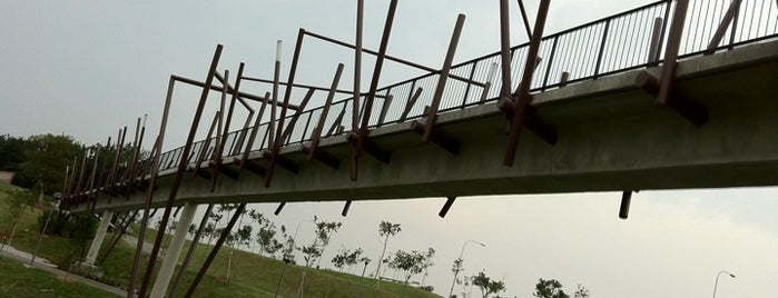 Kelong Bridge is one of Punggol Town Park.