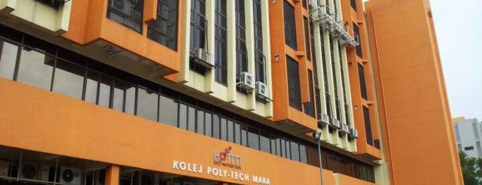 Kolej Universiti Poly-Tech MARA (KUPTM) is one of Learning Centers,MY #5.