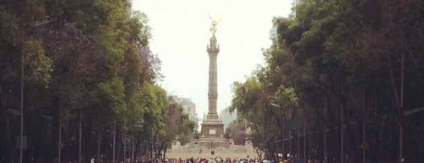 Av. Paseo de la Reforma is one of O que Fazer na Cd. do México.