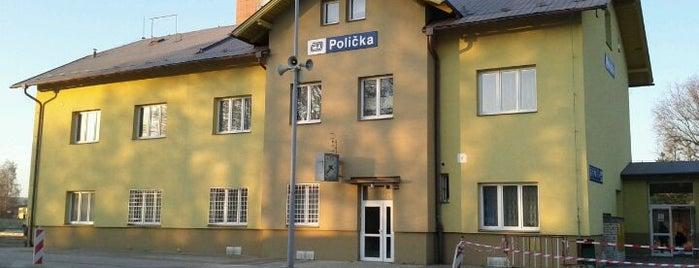 Železniční stanice Polička is one of Železniční stanice ČR: P (9/14).
