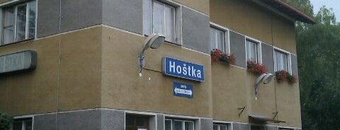 Železniční stanice Hoštka is one of Železniční stanice ČR: H (3/14).