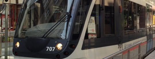 Pazartekke Tramvay Durağı is one of T1 - Tramvay Durakları.