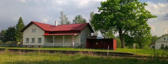 Železniční zastávka Mrázov is one of Železniční stanice ČR: M (7/14).
