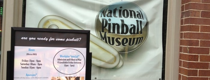 National Pinball Museum is one of Maryland Museums.