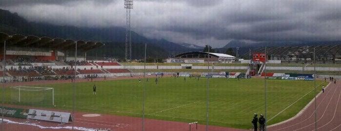 Estadio Olimpico Cuidad De Ibarra is one of Estadios.
