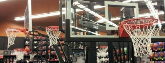 Sports Authority is one of places.