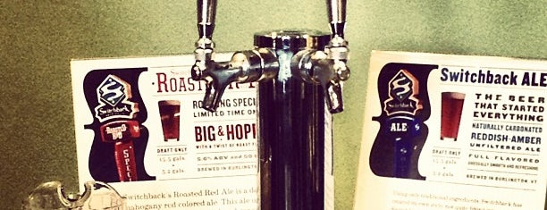 The Tap Room at Switchback Brewing Company is one of places to go.