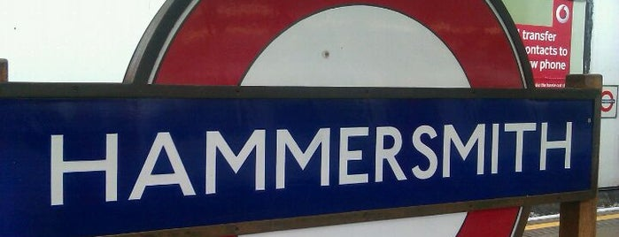 Hammersmith London Underground Station (Circle and H&C lines) is one of Tube Challenge.