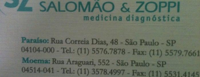 SalomãoZoppi Diagnósticos is one of Medicos.