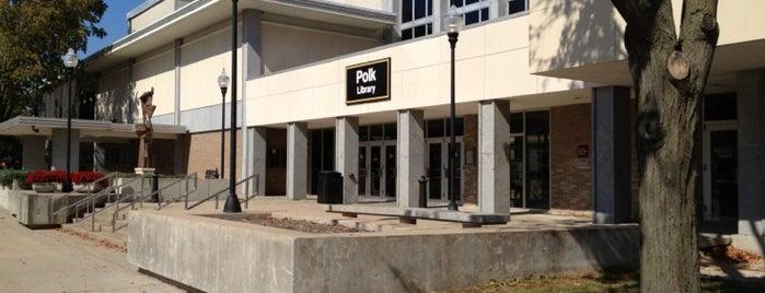 Polk Library is one of UW Oshkosh Admissions Tour.
