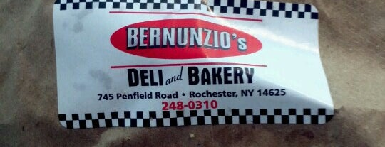 Bernunzio's Deli Bakery is one of Diner, Deli, Cafe, Grille.