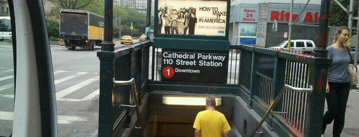 """MTA Subway - Cathedral Pkwy/110th St (1) is one of """"Be Robin Hood #121212 Concert"""" @ New York!."""