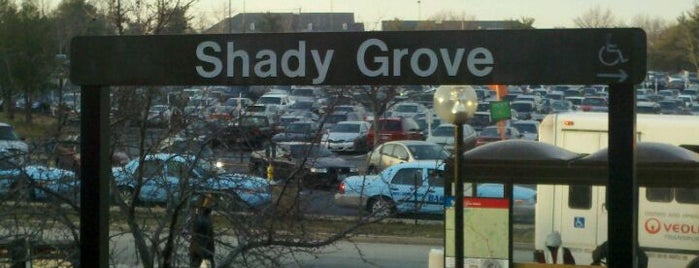 Shady Grove Metro Station is one of WMATA Train Stations.